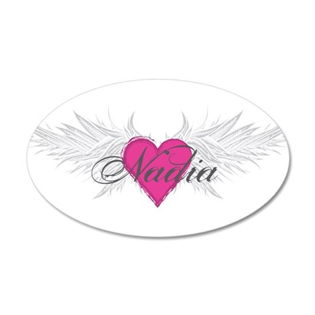 Nadia-angel-wings.png 20x12 Oval Wall Decal