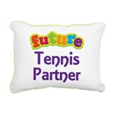 Future Tennis Partner Rectangular Canvas Pillow