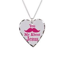 Mustache Me About Jesus Necklace