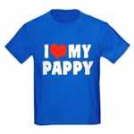 I Love My Pappy Kids Dark T-Shirt