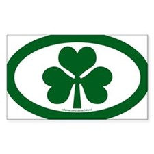 Shamrock Euros Oval Bumper Stickers