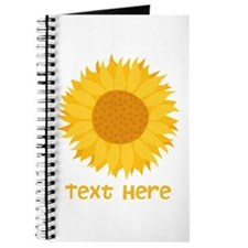 Sunflower. Custom Text. Journal