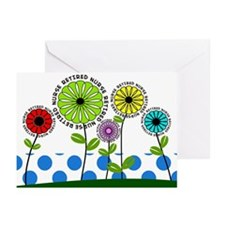 retired nurse pillow 2013 Greeting Cards (Pk of 20