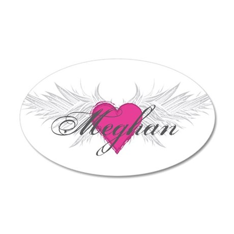 Meghan-angel-wings.png 20x12 Oval Wall Decal