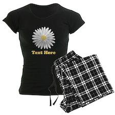 Flower with Custom Text. Pajamas