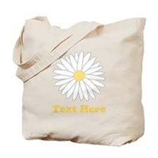 Flower with Custom Text. Tote Bag