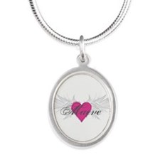 My Sweet Angel Maeve Silver Oval Necklace