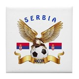 Serbia Football Design Tile Coaster