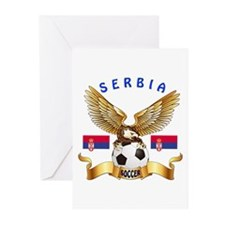 Serbia Football Design Greeting Cards (Pk of 20)