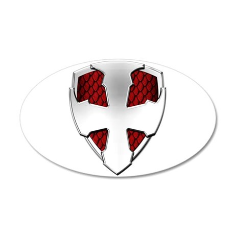 St George Shield 20x12 Oval Wall Decal