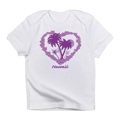 Hawaiian Palm Tree Hearts Infant T-Shirt