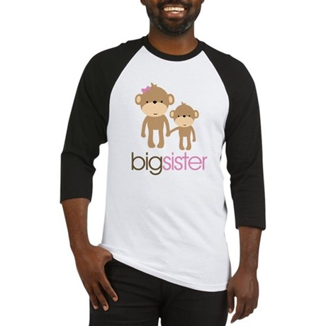 Monkey Big Sister Baseball Jersey