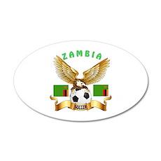 Zambia Football Design 20x12 Oval Wall Decal