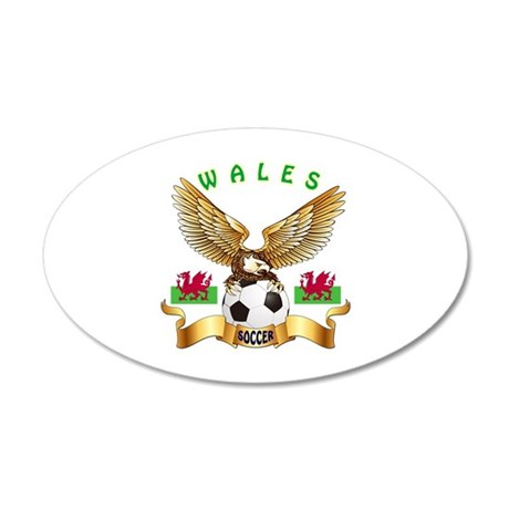 Wales Football Design 35x21 Oval Wall Decal