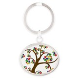Puzzled Tree of Life Oval Keychain