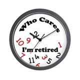 Cute Funny retirement Wall Clock