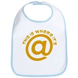 Where Its At @ Symbol Design Bib