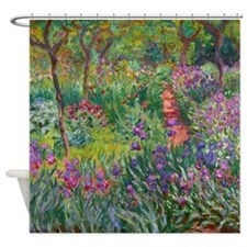 Giverny Iris Garden Shower Curtain