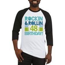 48th Birthday Rock and Roll Baseball Jersey