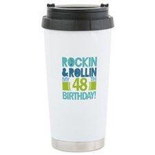 48th Birthday Rock and Roll Ceramic Travel Mug