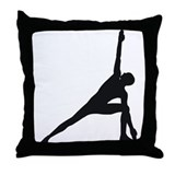 Bikram Yoga Triangle Pose Throw Pillow