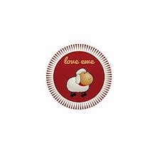 Love Ewe Mini Button (10 pack)