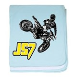 JS7bike baby blanket
