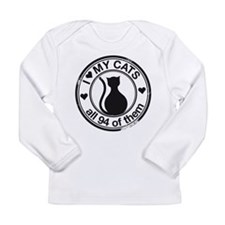 94 cats Long Sleeve Infant T-Shirt