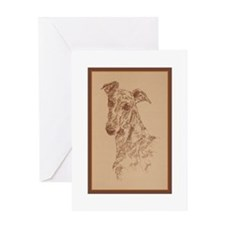 Cute Fawn greyhound Greeting Card