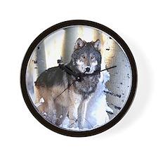 Cute Wolf calender Wall Clock