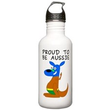 proud to be aussie Water Bottle