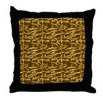 Liquid Gold Collection Throw Pillow