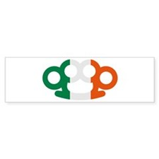 Brass knuckles Ireland flag Bumper Sticker