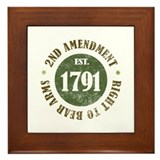 2nd Amendment Est. 1791 Framed Tile