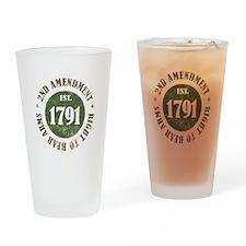 2nd Amendment Est. 1791 Drinking Glass