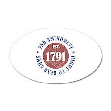 2nd Amendment Est. 1791 20x12 Oval Wall Decal