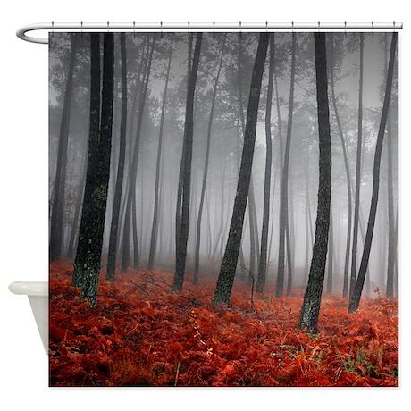 black gifts black bathroom d cor black forest shower curtain