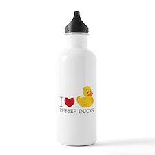 Love Rubber Ducks Water Bottle