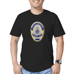 Riverside Police Officer Men's Fitted T-Shirt (dar
