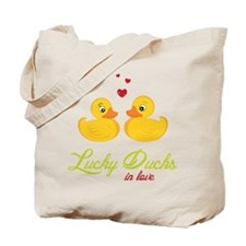 Lucky Ducks In Love Tote Bag