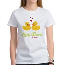 Lucky Ducks In Love Tee