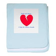 Cath Lab Nurse baby blanket