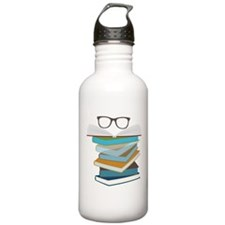 Stack Of Books Water Bottle