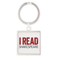 I Read Shakespeare Square Keychain