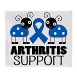 Arthritis Support ladybug Throw Blanket