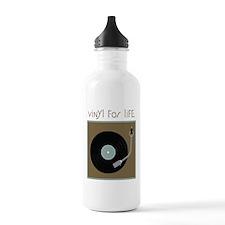 Vinyl For Life Water Bottle