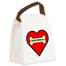 Irish Setters Heart Canvas Lunch Bag
