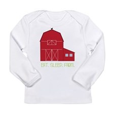 Eat Sleep Farm Long Sleeve Infant T-Shirt