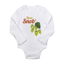 Beer Snob Long Sleeve Infant Bodysuit