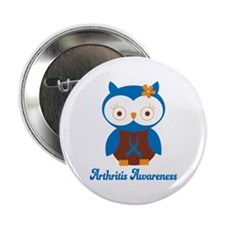"Cute Arthritis Owl 2.25"" Button"